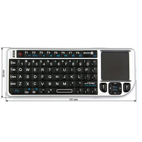 Wireless Ultra Mini Keyboard with Touchpad Silver