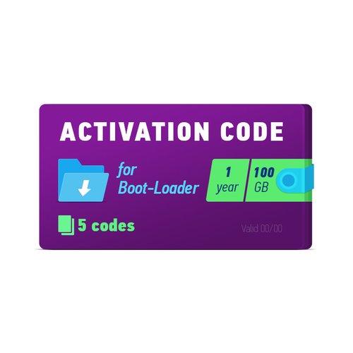 Активационный код Boot-Loader 2.0 (1 год, 5 кодов х 100 ГБ)