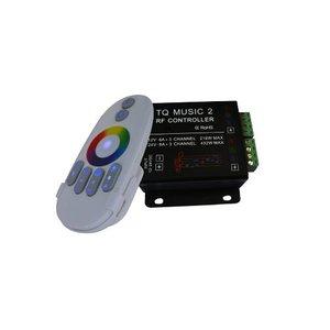 Контролер звуковий з безпровідним пультом HTL-033 (RGB, 5050, 3528, 216 Вт)